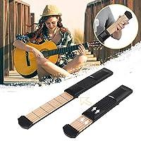Murakush ポケットギター ポケットアコースティックギター 練習ツール コードトレーナー 6弦 6フレットモデル ポータブル 初心者用