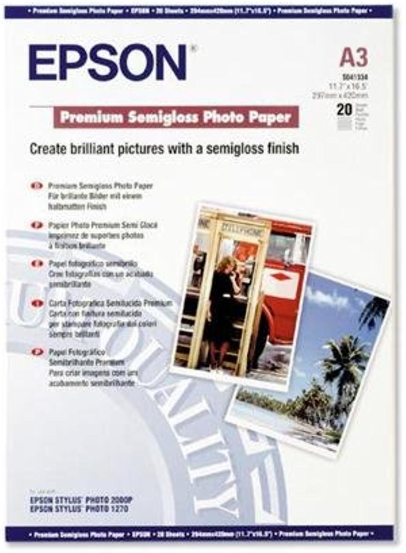 Epson Premium Semigloss Photo Paper, DIN A3, 251 g m², 20 Sheets – Photo Paper (DIN A3, 251 g m², 20 Blatt, 13 x 312 x 435 mm, A3 (329 x 423), 1 kg, 20 Sheets) B0012XNNQM | Verschiedene Arten und Stile