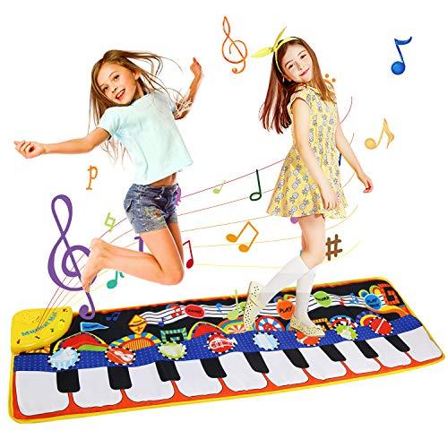 LEADSTAR Tappeto Musicale, Tappeto Musicale Bambini, Tappetino per Pianoforte Tappetino per la Musicale, Strumento Musicale Tocca la Tastiera Giocattoli Educativi (110 * 36 cm)