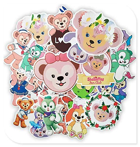 Cute Bear Suitcase Stickers Trolley Case Waterproof Stickers Guitar Mobile Computer Girl Heart Stickers 30 Sheets