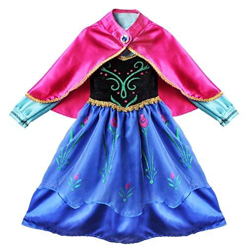 Kostium księżniczki, sukienka dla dzieci, przebranie, karnawał, imprezę, Cosplay, urodziny, długa sukienka na Halloween, karnawał, bal, sukienka dziecięca, sukienka odświętna, sukienka maxi, fioletowy, 6-7 Lata