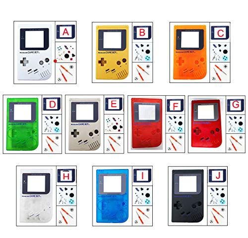 DMG-01 Housing Shell Case Cover Screen Lens for Nintendo Game Boy Pick A Color! (C# Clear Orange)