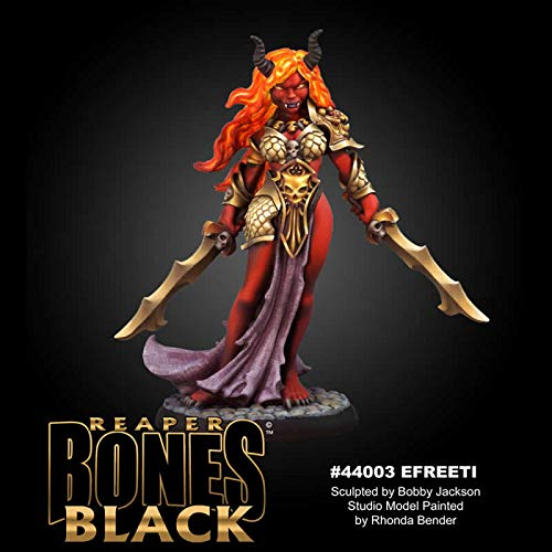 Reaper Miniatures Ziba, Female Efreeti #44003 Bones Black Plastic Unpainted Mini
