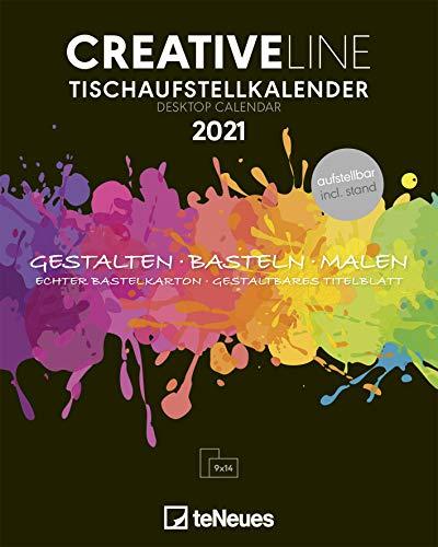 Creative Line Tischaufsteller hoch 2021 - Kreativ-Kalender - DIY-Kalender - Kalender-zum-basteln - Tischkalender - 16x20