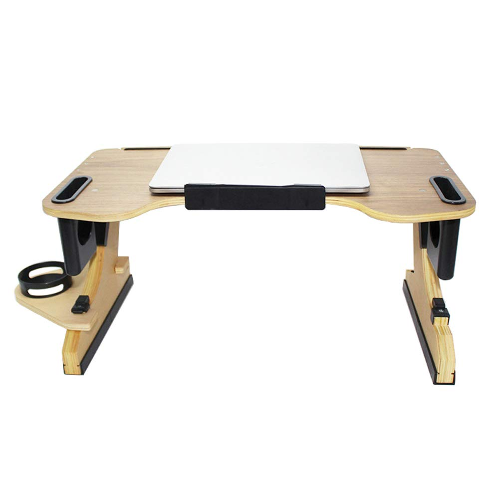 NBCDY Adjustable Angle Laptop Stand, Multifunctional Ergonomic Height Many Angle, Wooden Lazy Desk Portable Stand, Bed And Breakfast Table Tray, For Sofa Couch
