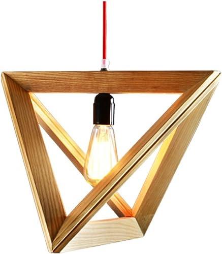 Lustres en bois de LED Lustre minimaliste moderne de cuisine en bois solide naturelle de restaurant (Taille   L)