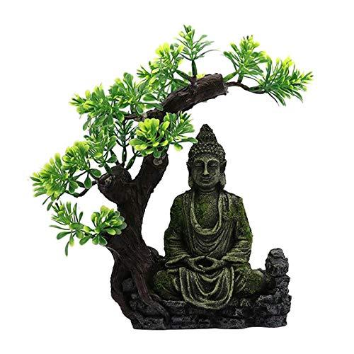JONJUMP Crafts - Figura decorativa de Buda zen para acuario, escondite cueva, pecera, adorno