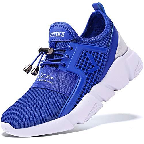 ASHION Kinder Turnschuhe Jungen Sport Schuhe Mädchen Kinderschuhe Sneaker Outdoor Laufschuhe für Unisex-Kinder(F-Blau,33 EU)