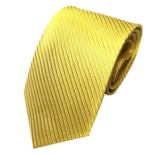 Xmiral Herren Krawatte Klassische Jacquard Gewebte Streifen Passen für Arbeit Lässig Party Hochzeit (Gelb)