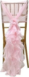 Noeuds de Chaise en Spandex Ruban Housse de Chaise D/écor avec Fleur pour Mariage H/ôtel Banquet f/ête D/écor DaoRier Noeud pour Chaise Mariage