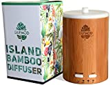 dufmod 150ml Real Bamboo Wood Diffuser for Essential Oils, Cool Mist Ultrasonic Aromatherapy Humidifier, Waterless Auto Shut-Off, Color LED Lights for Home, Office, Bedroom, Yoga Studio.