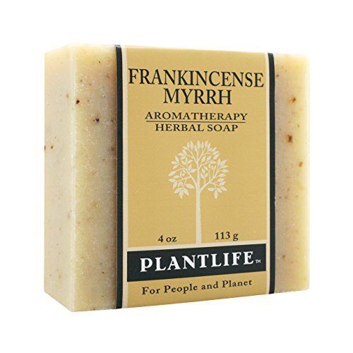 Plantlife Frankincense Myrrh 100% Pure & Natural Aromatherapy Herbal Soap- 4 oz (113g)