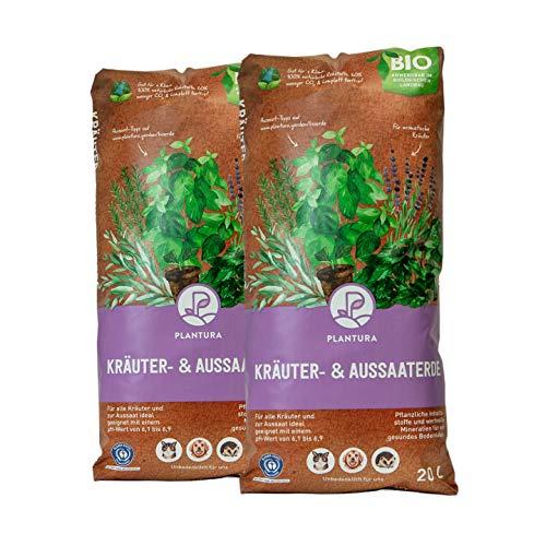 Plantura Bio Kräuter- & Aussaaterde, 40 L, torffrei & klimafreundlich, vorgedüngt