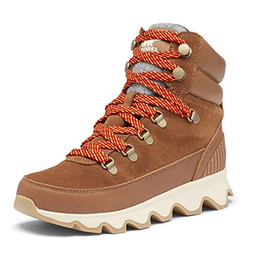 SOREL Women's Kinetic Conquest Boot — Velvet Tan — Waterproof Leather & Suede Rain Boots — Size 8.5