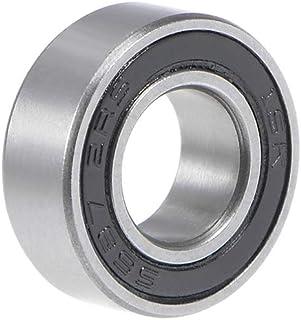 Sourcingmap 6202-2rs 6202zz 15 x 35 x 11 mm, acero cromado 6202ZZ Rodamiento de bolas de ranura profunda 5Qty Z2 Lever