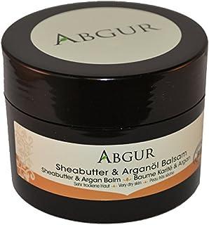 Bio Arganöl-Sheabutter-Creme - Naturkosmetik Feuchtigkeitscreme 100% rein - Balsam für sehr trockene Haut - 100 ml