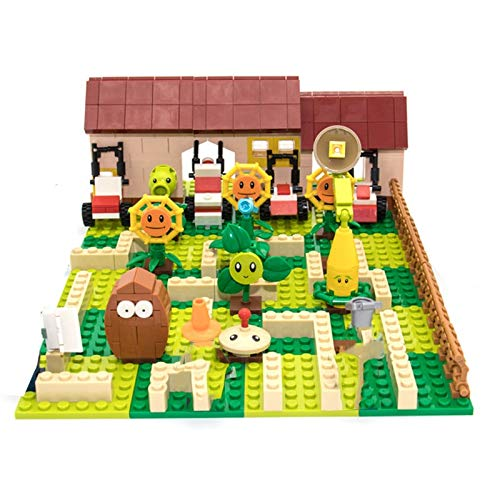 Rawikan Plants Vs. Zombies Juego de Lucha Juguetes de Acción y Figura Muñeca Bloques de Construcción Juguetes de Ladrillo (Compatible con Lego)