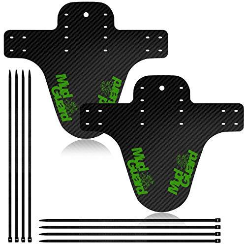 BAOXIN Parafango MTB, usati per Parafanghi Anteriori o Compatibili con Parafanghi Posteriori, usati per Parafanghi per Mountain Bike e Parafanghi Fat Bike con Dimensioni da 16 a 29 Pollici (Green)