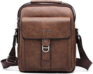 Men's Leather Crossbody Bag, Men's Small Backpack Casual Sports Shoulder Bag