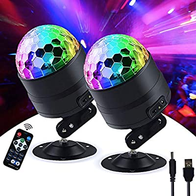 DiscoPart Disco-Ball Portable Remote Dj Party-Lights LED Strobe Light for Indoor and Outdoor Lightning Accessories
