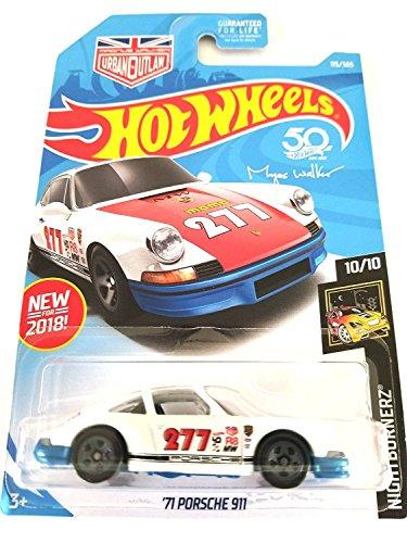 Hot Wheels 2018 50th Anniversary Nightburnerz Magnus Walker \'71 Porsche 911 115/365, White and Blue