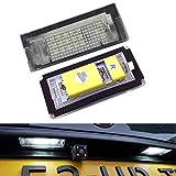 PolarLander 2pcs 6500K 18 LED SMD Plaque d'immatriculation lumières Lampes Ampoules for B-M-W E46 4D (98-05) 323i 325i 328i 99-03 330xi 330i 325xi