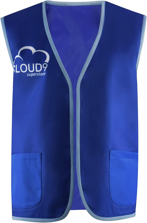 Cloud Superstore Letter Print Vest Activity Supermarket Uniform Apron Vests Clerk Workwear for Men