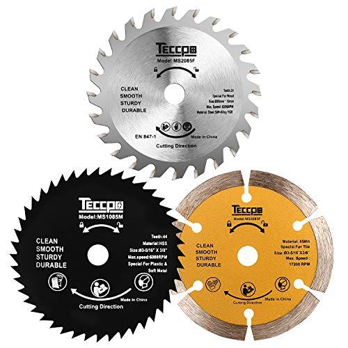 1 x TCT 24 lame per sega per legno, 1 x HSS 44 lame per sega per plastica e metallo morbido, 1 x lame per sega diamantata per piastrelle - TACB27A