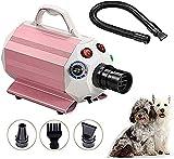 VTAMIN Secadora Mascota pulser secador de Pelo gromo Potente Secado Variable Calor y Velocidad ?? para Mascotas Secador de pulsador de Aseo (Color: Rosa) (Color : Pink)