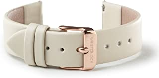 WRISTOLOGY Womens Easy Interchangeable Leather Watch Band - 14, 16, 18, 20 MM
