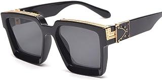 PADQ - Gafas de Sol para Hombre Gafas de Sol de Moda Vintage Gafas de Moda para Mujer Gafas de Sol Gafas de Espejo
