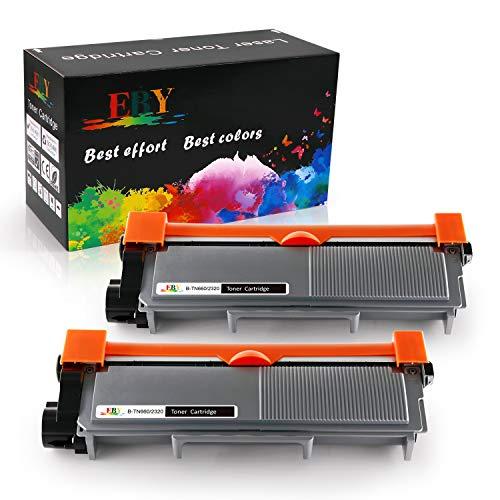 EBY TN-2320 TN2320 TN2310 Cartucho de tóner Compatible para Brother MFC-L2700DW HL-L2300D HL-L2340DW MFC-L2740DW HL-L2365DW DCP-L2520DW HL-L2360DN MFC-L2720DW DCP-L2500D DCP-L2540DN [2 Nergo]