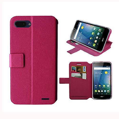 JIENI Hülle für Archos Core 55S,Flip PU Farblich abgestimmtes Brieftasche Handyhülle Ledertasche Hülle Kartenfach Schale Standfunktion Schutzhülle Cover für (5.45