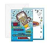 ARKRAFT Biglietto auguri di compleanno 18 Anni con glitter (Maschile, A-018B)