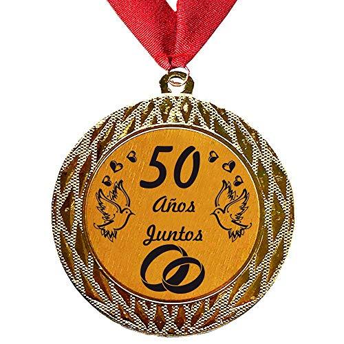 Larius Group La Medalla con Texto estandarizado 50 años Juntos o Deseado...