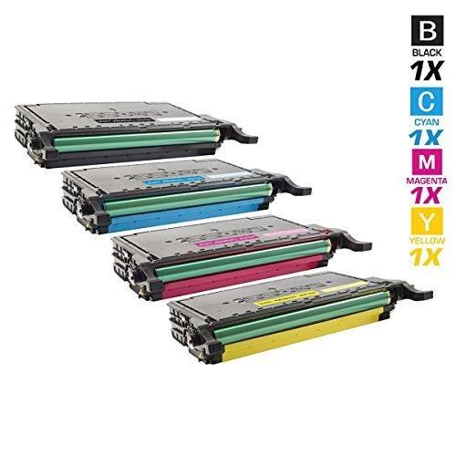 4 SCHNEIDERPRINTWARE Toner (30 Prozent höhere DRUCKLEISTUNG) kompatibel zu für Samsung CLP-620 CLP-620ND CLP-670 CLP-670N CLP-670ND CLX-6220FX CLX-6250FX