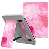 MoKo Case Fits Kindle Paperwhite (10th Generation, 2018 Releases), Lightweight PU Leather Cover Stand Shell with Hand Strap for Amazon Kindle Paperwhite 2018 E-Reader - Coreopsis