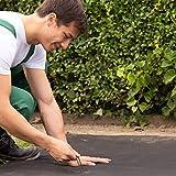 GardenGloss® Erdanker unverzinkt - Stabile Bodenanker für Unkrautvlies, Gartenvlies, Zaun & Netz - 150 MM Lang, 25 MM Breit, Ø 2.7 MM (100 Stück) - 5