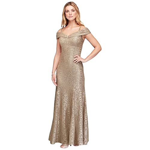 f41d4e467d Cold-Shoulder Glitter Lace Mermaid Mother of Bride Groom Dress Style 2047