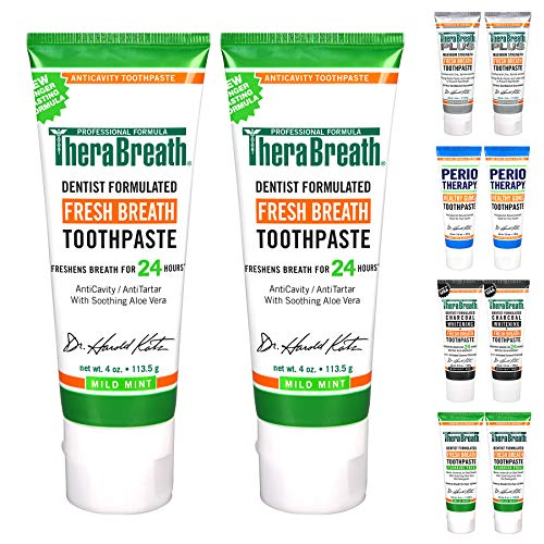 TheraBreath 24-Hour Fresh Breath Toothpaste 4 oz (Pack of 2)