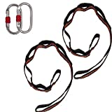 Aum Active Set of 2 Carabiners & 2 Daisy Chains - Accessories for Easy Installation & Extending The Length of Aerial Silks Fabric, Aerial Yoga Hammock, Antigravity Inversion Pilates, Sensory Swing