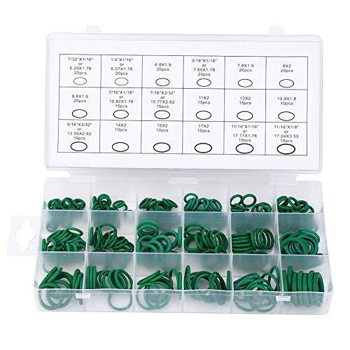 Juego surtido de juntas tóricas, junta tórica Sellado firme Fácil de usar 270 piezas con tapa divisoria para cilindros hidráulicos para aplicaciones neumáticas