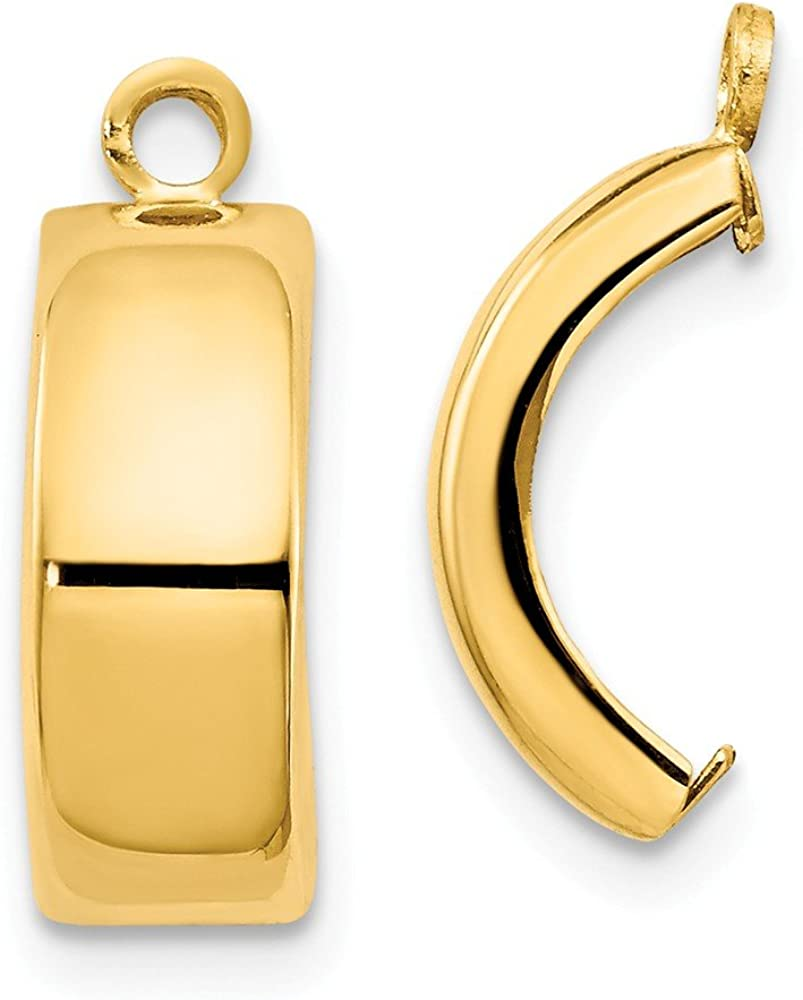 FB Jewels Solid 14K Yellow Gold Polished Earring Jackets