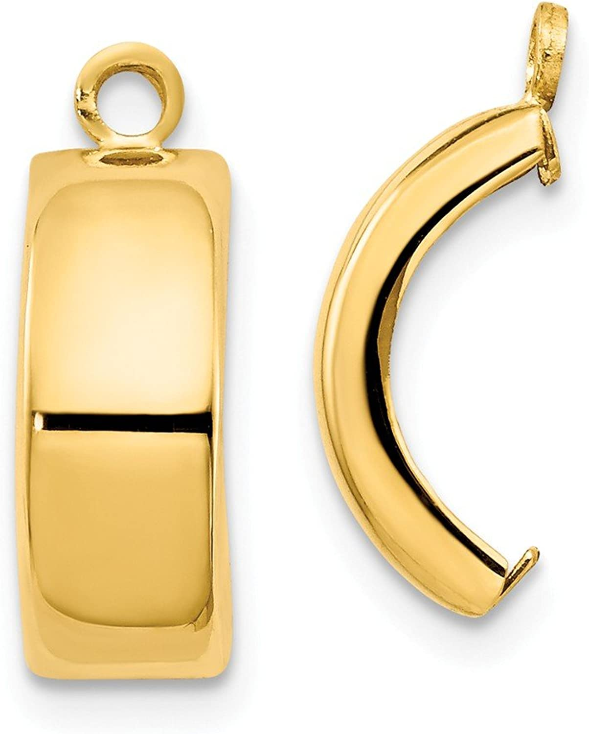 Beautiful Yellow gold 14K Yellowgold 14k Polished Earring Jackets