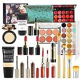 FantasyDay 9Pcs Pro Makeup Gift Set Makeup Bundle Essential Starter Makeup Kit Includes Bronzing Powder, Loose Powder, Powder, Blush Stick, Concealer Stick, Contour Stick, Powder Puff, Brush and Bag