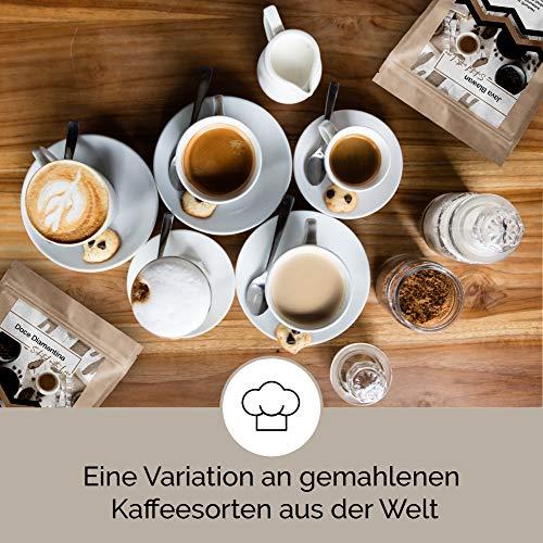 Kaffee Weltreise 360g Box als Probierpaket erlesener Kaffee aus aller Welt im Geschenkkarton zum Verschenken für Kaffeeliebhaber