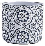 DWhui Flor Plant Pots Jardín Jardines Modernos Succulentos Contenedores Pote de cerámica Decorativa Interior con Orificios de Drenaje para Piezas de Mesa (Color : Azul, Size : Medium)