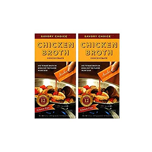 Savory Choice Chicken Broth Concentrate, 5.1 Ounce (Pack of 2)