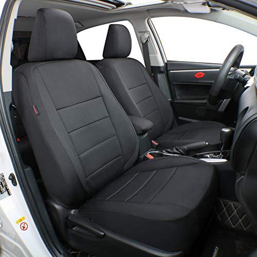 EKR Custom Fit Neoprene Car Seat Covers for Select Subaru Forester 2014 2015 2016 2017 2018 - Neoprene (Black)