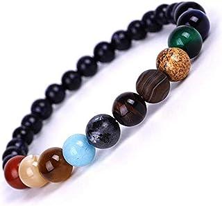 SX Commerce Handmade Women Casual Natural Stone Geometric Shape Planet Beads Bracelet Bracelets